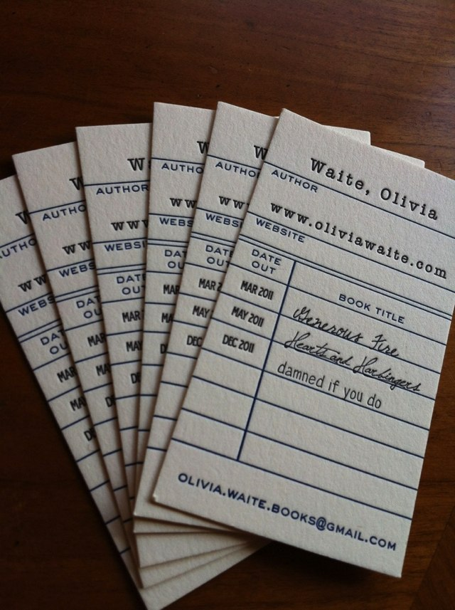5 Awesome Librarian Business Cards | OEDB.org
