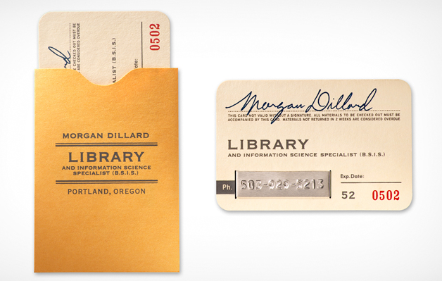 5 awesome librarian business cards oedb library card business cards reheart Image collections