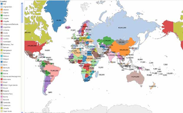Free Map Of The World.Using Gis 20 Free Tools For Creating Data Maps